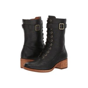 Kork-Ease | Mona Black Lace Up Booties